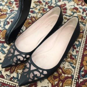 Kate Spade Flats size 7.5 with peek-a-boo cut out